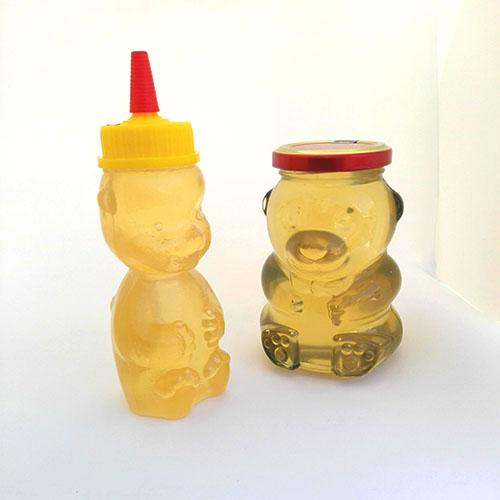 confezioni vasetto in PET forma orsetto 350 g